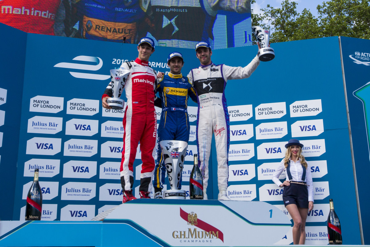 Winner's Podium, FIA Formula E, London
