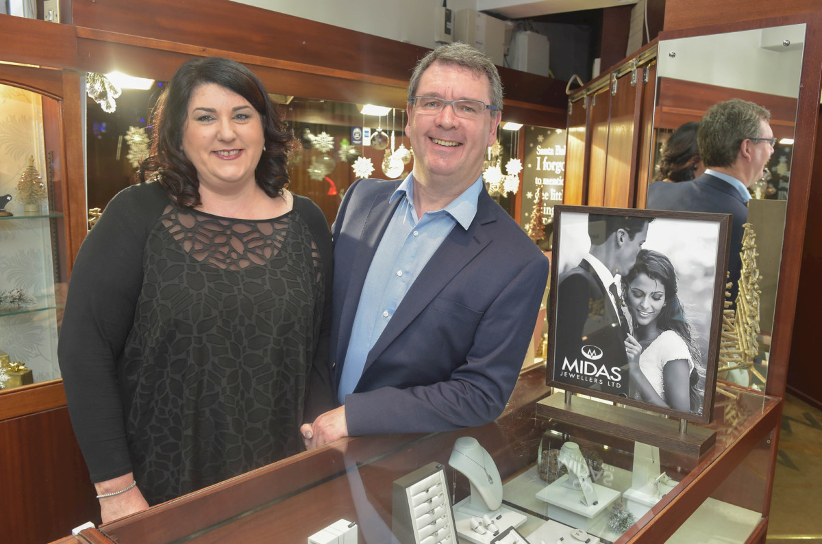Lynne and Jim Conlon owners at Midas Jewellers Lisburn