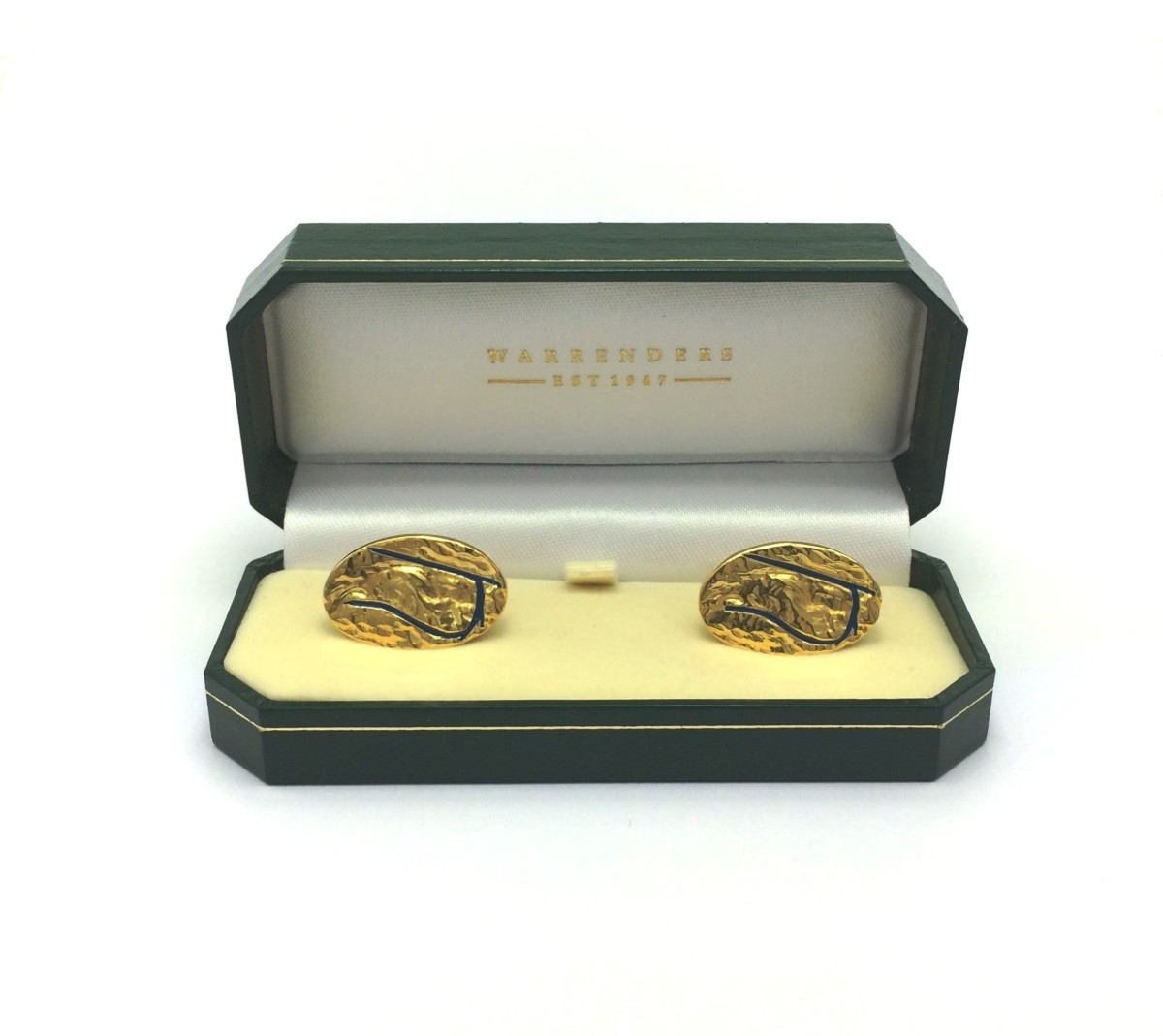 Warrenders Jewellers bespoke cufflinks for Epsom Downs