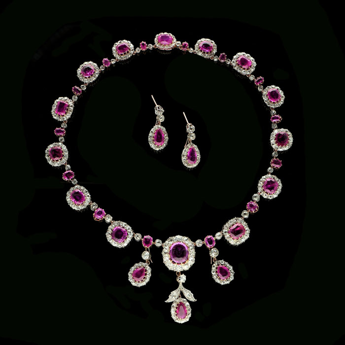Countess of Rosse necklace and earrings Hancocks London