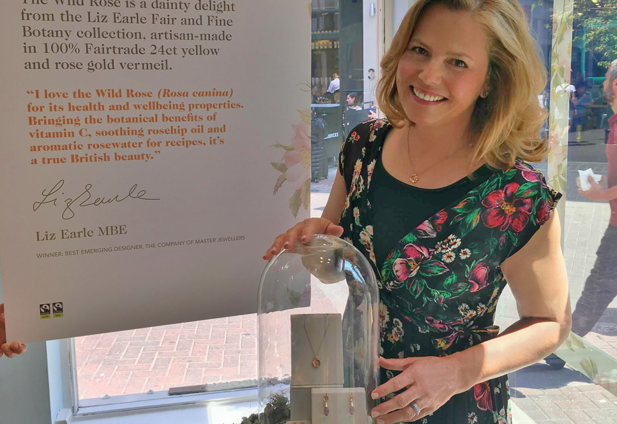 Liz Earle and Liberty window