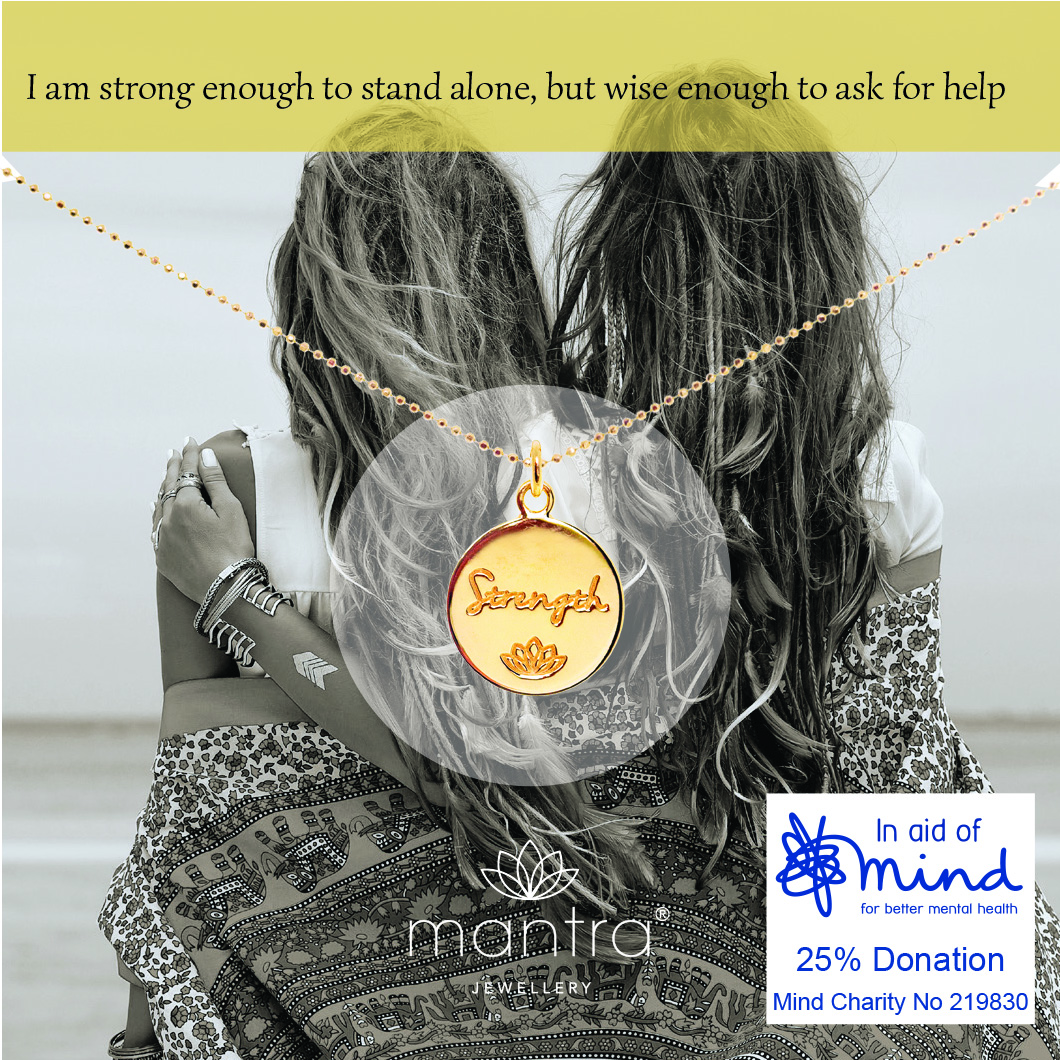 InaidofMindYellowGoldPlatedSterlingSilverNecklacebyMantra55availablefromwww.mantrajewellery.co.uk