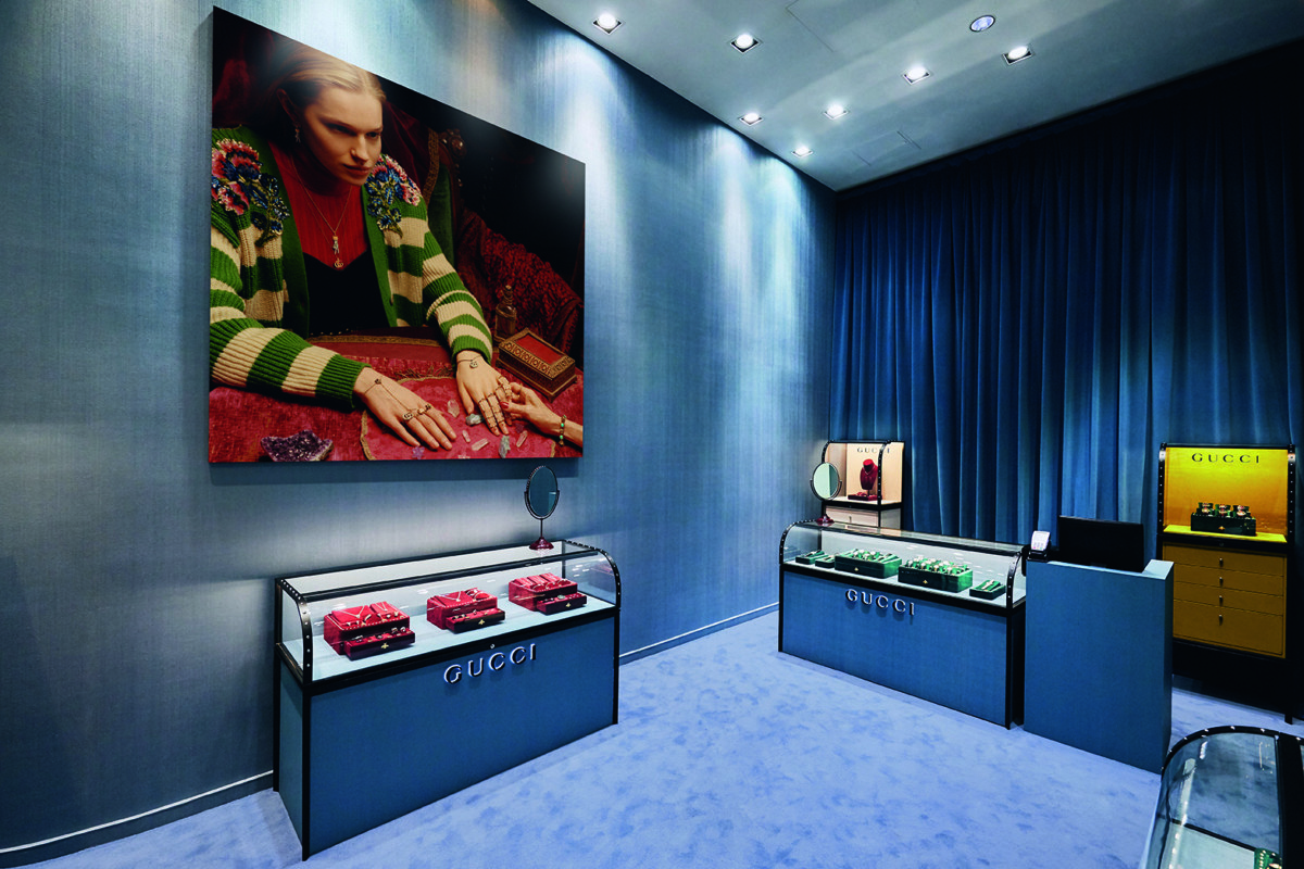 Gucci watch and jewellery pop-up, Westfield White City, comm by Louise Marsh