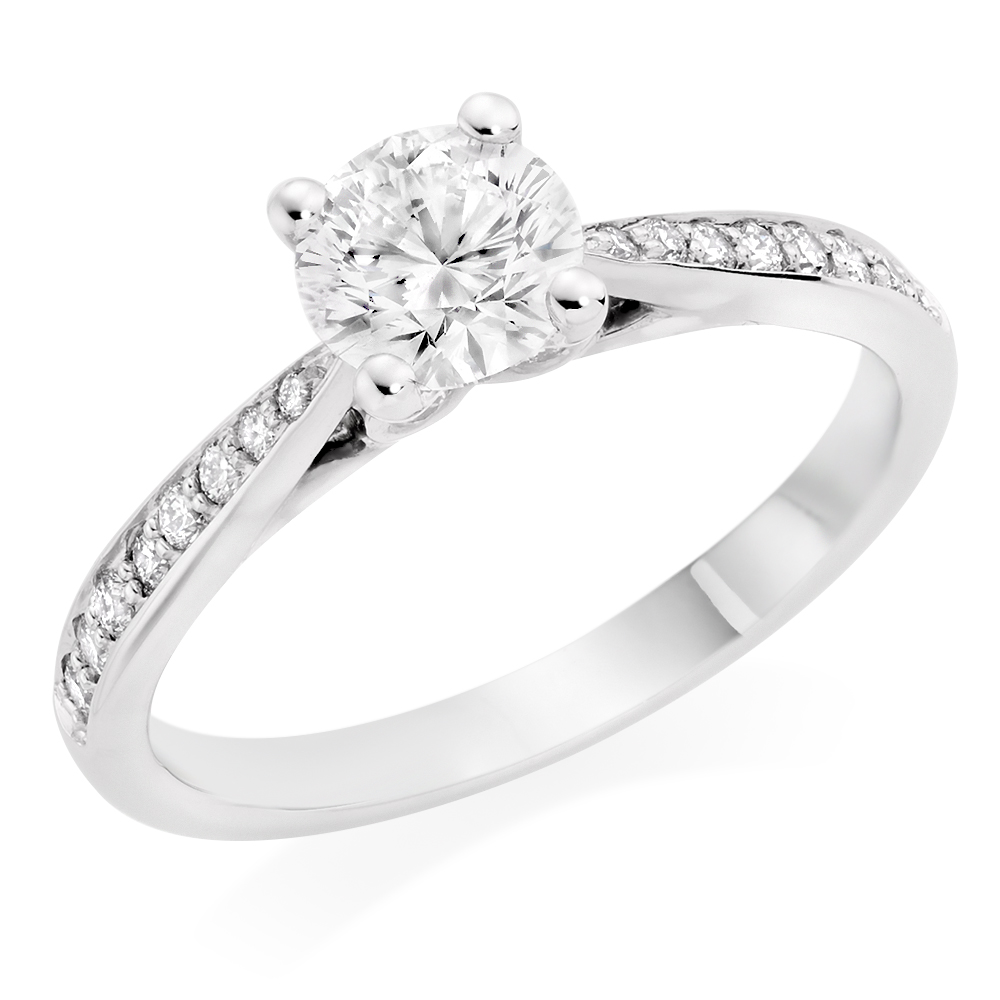 Beyond Brilliance 18ct PureWhite Gold Diamond Solitaire Ring, £8,500 from Beaverbrooks