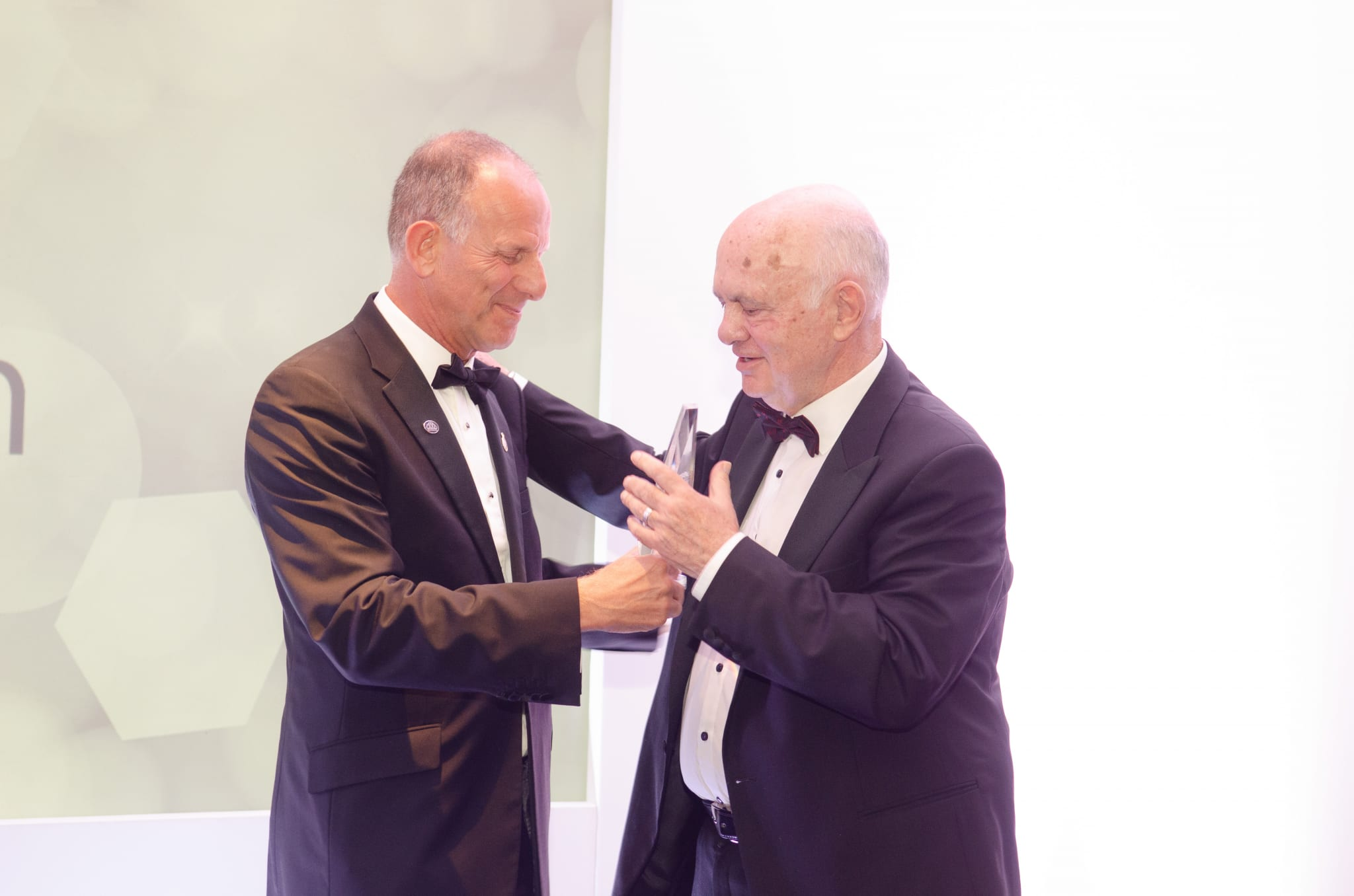 Andrew Brown MBE receives standing ovation as 57 years' service to the industry is honoured