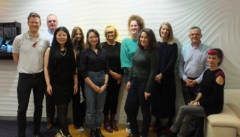 The Goldsmiths' Centre's Setting Out participants and mentors with staff from Weston Beamor (c) The Goldsmiths' Centre, 2019