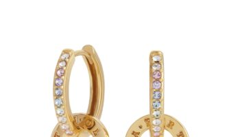 OLIVIA BURTON – OBJRBE02 – RAINBOW INTERLINK HUGGIE HOOPS GOLD – £48.00